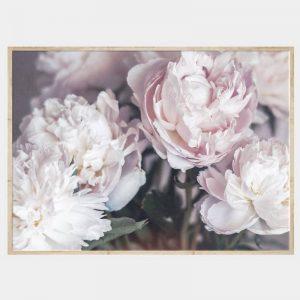 Serene Bunches Canvas - Natural Box Frame