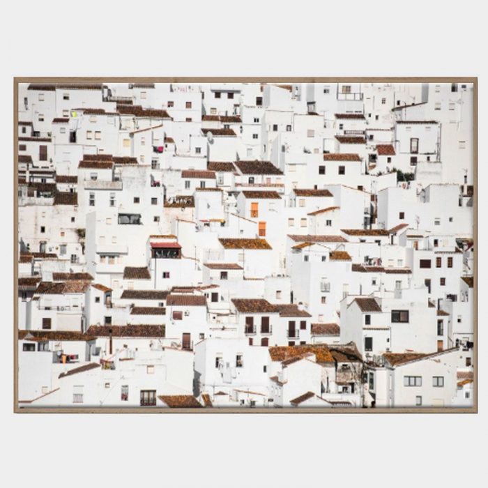 Spanish Village Canvas - Caramel Box Frame