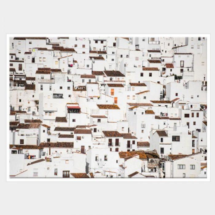 Spanish Village Canvas - White Box Frame