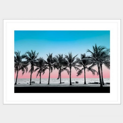 Summer Palms - Flat Matte White
