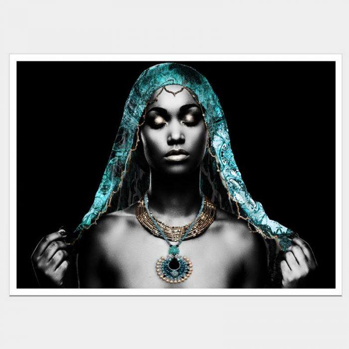 Teal Goddess - Flat Matte White