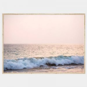 Tranquil Surf Canvas - Natural Box Frame