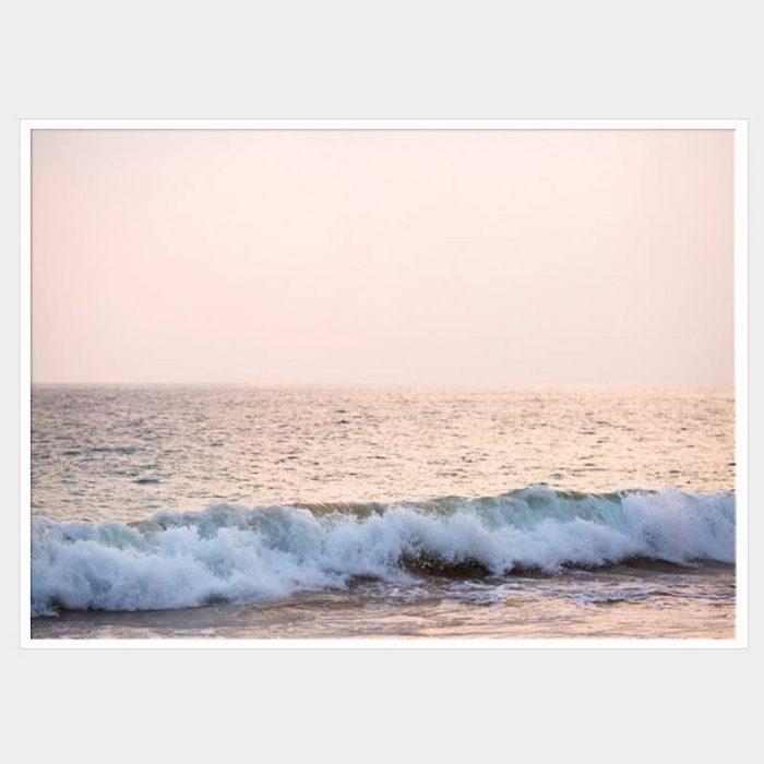 Tranquil Surf Canvas - White Box Frame
