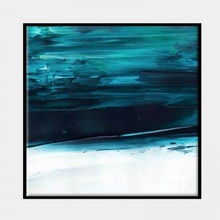 Under Water Blue Canvas - Black Box Frame