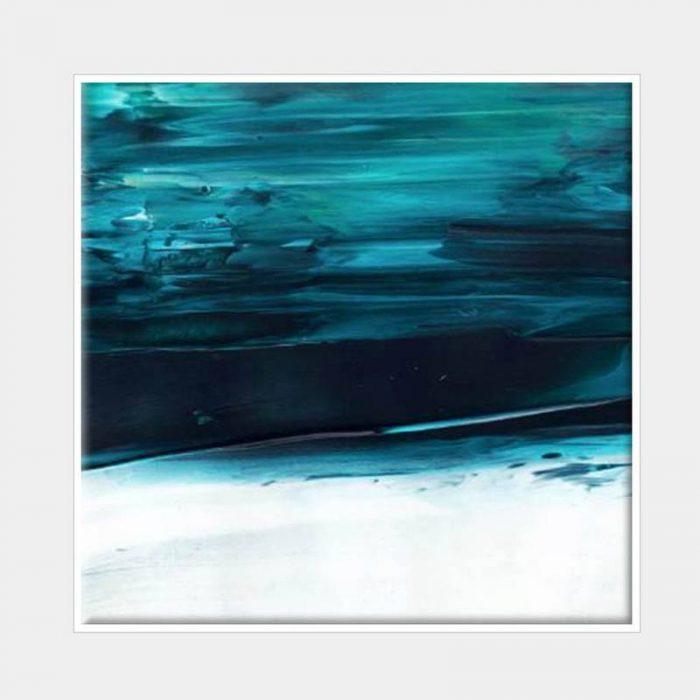 Under Water Blue Canvas - White Box Frame