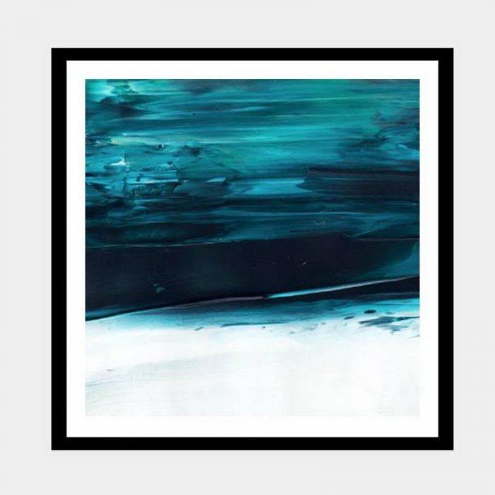 Under Water Blue - Flat Matte Black