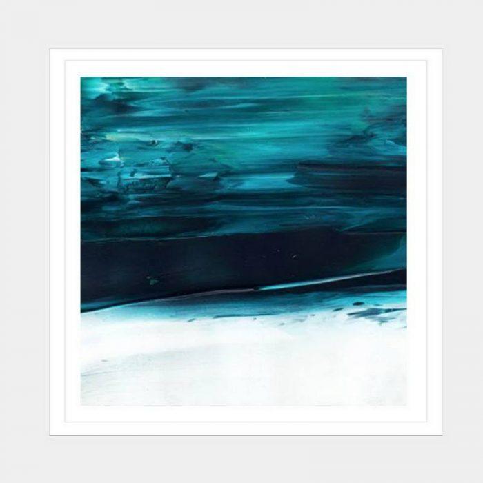 Under Water Blue - Flat Matte White