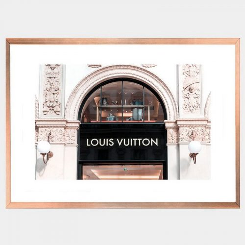 Vuitton Window - Rose Gold