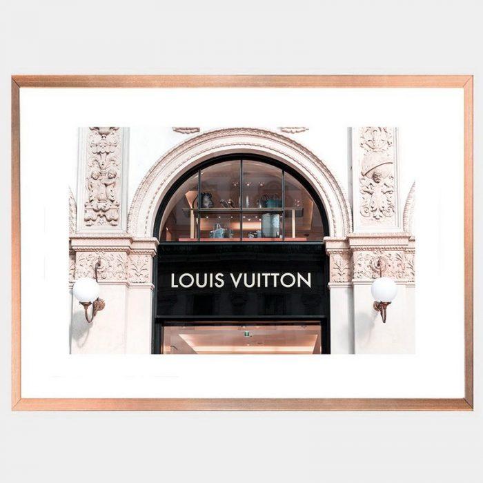 Vuitton Window - Rose Gold