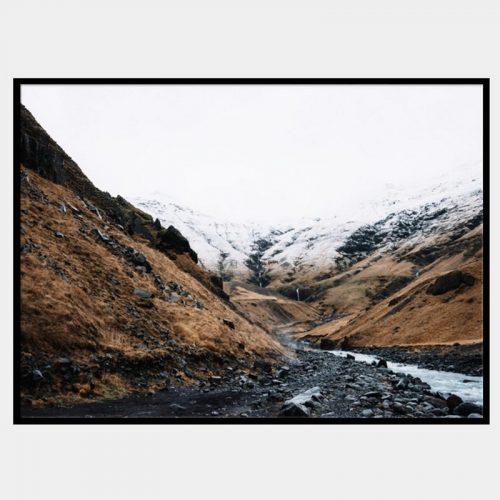 Wallace Gorge Canvas - Black Box Frame