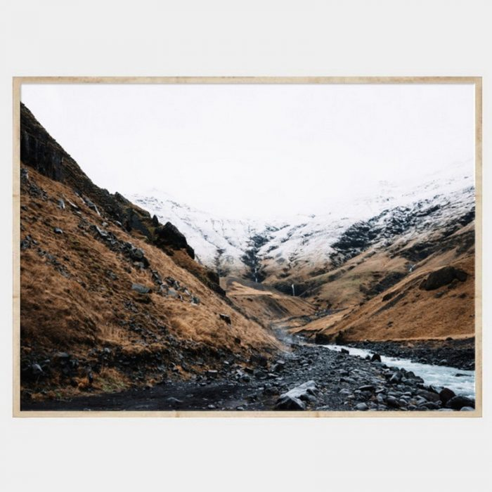 Wallace Gorge Canvas - Natural Box Frame