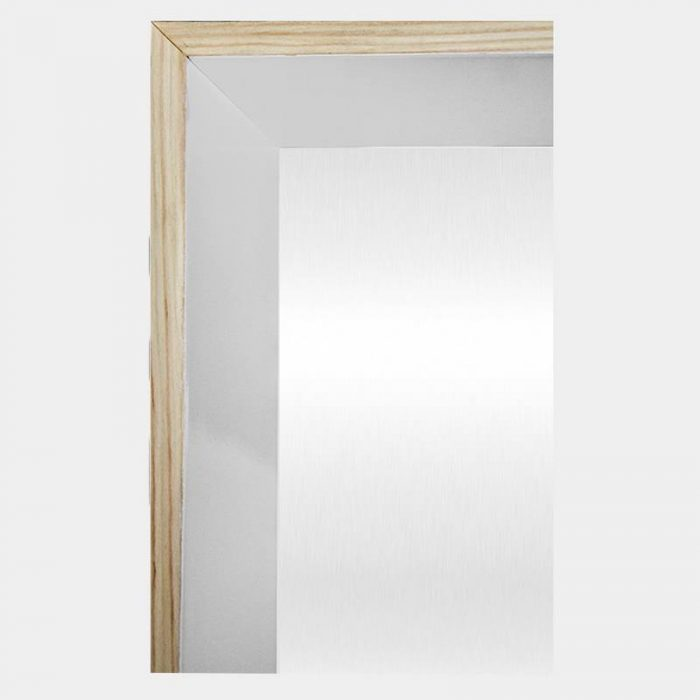 White Hampton Mirror - Corner