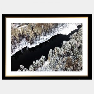 Winter Waters - Black and gold