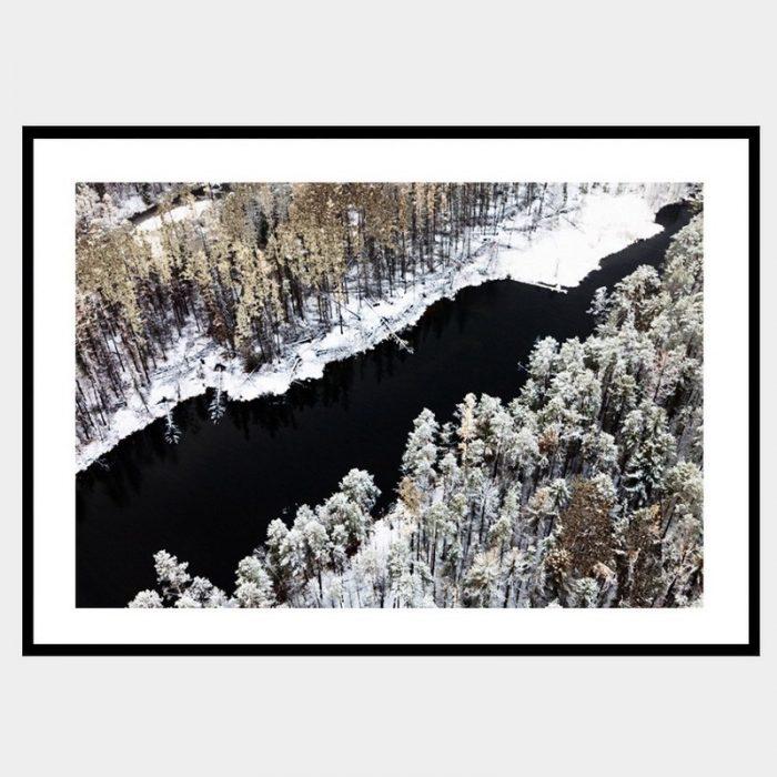 Winter Waters - Flat Matte Black