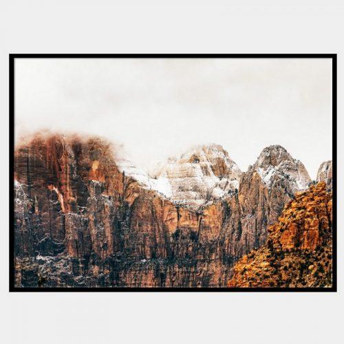 Wisdom Peaks Canvas - Black Box Frame